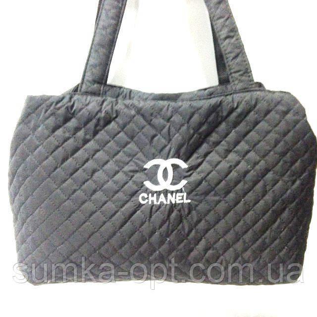 Женские стеганные сумки Chanel дешево опт (черный)26*50