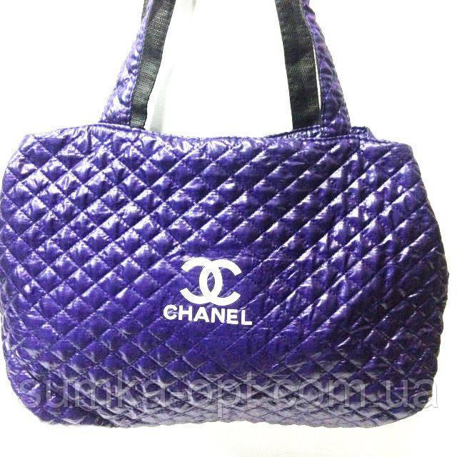Женские стеганные сумки Chanel дешево опт (фиолет)26*50