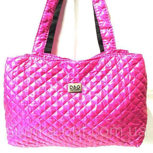 Женские стеганные сумки дешево опт (фуксия)26*50