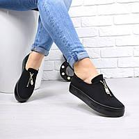 Кеды женские Zipp черные 4618, кеды женские осенняя обувь