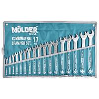 Набор ключей комбинированных MOLDER CR-V 17 шт (6-24 мм) MT58117