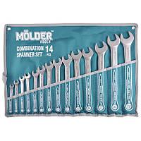 Набор ключей комбинированных MOLDER CR-V 14 шт (8-32 мм) MT58114