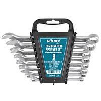 Набор ключей комбинированных MOLDER CR-V 8 шт (8-19мм) MT58108