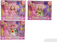Кукла маленькая 505B 3 вида,с пони,одеждой,аксесс, в кор.