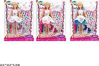 "Кукла типа ""Барби""Модельер"" BLD169/-1 3вид,фломастеры д/платья, наклейки,кор.22,5*6*32см"