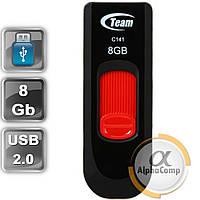 USB Flash 8Gb Team C141 USB2.0 (TC1418GR01) Red, фото 1