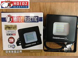 Светодиодный прожектор 20W Puma-20 Horoz Electric 6400K