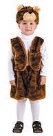 Маскарадный костюм меховой Медведь рыжий (размер M)