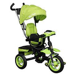 Bелосипед трехколесный  Best Trike 6699 с надувными колесами Зеленый  56674