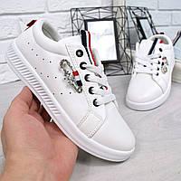 Кеды женские Gunni белые 4620, кеды женские осенняя обувь