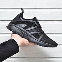 Мужские молодежные модные кроссовки Puma Ignite (черные), ТОП-реплика