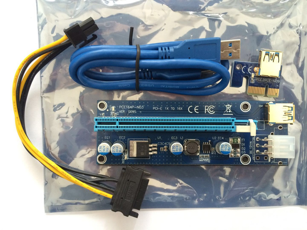 Райзер Riser ver 009s 6PIN PCI-E 1x-16x