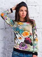 "Стильная женская кофта  "" Цветы "" SK House"