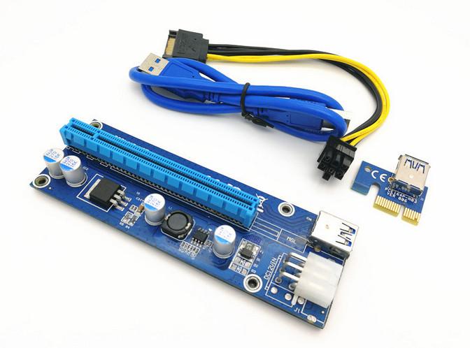 Райзер Riser ver 006с 6PIN PCI-E 1x-16x