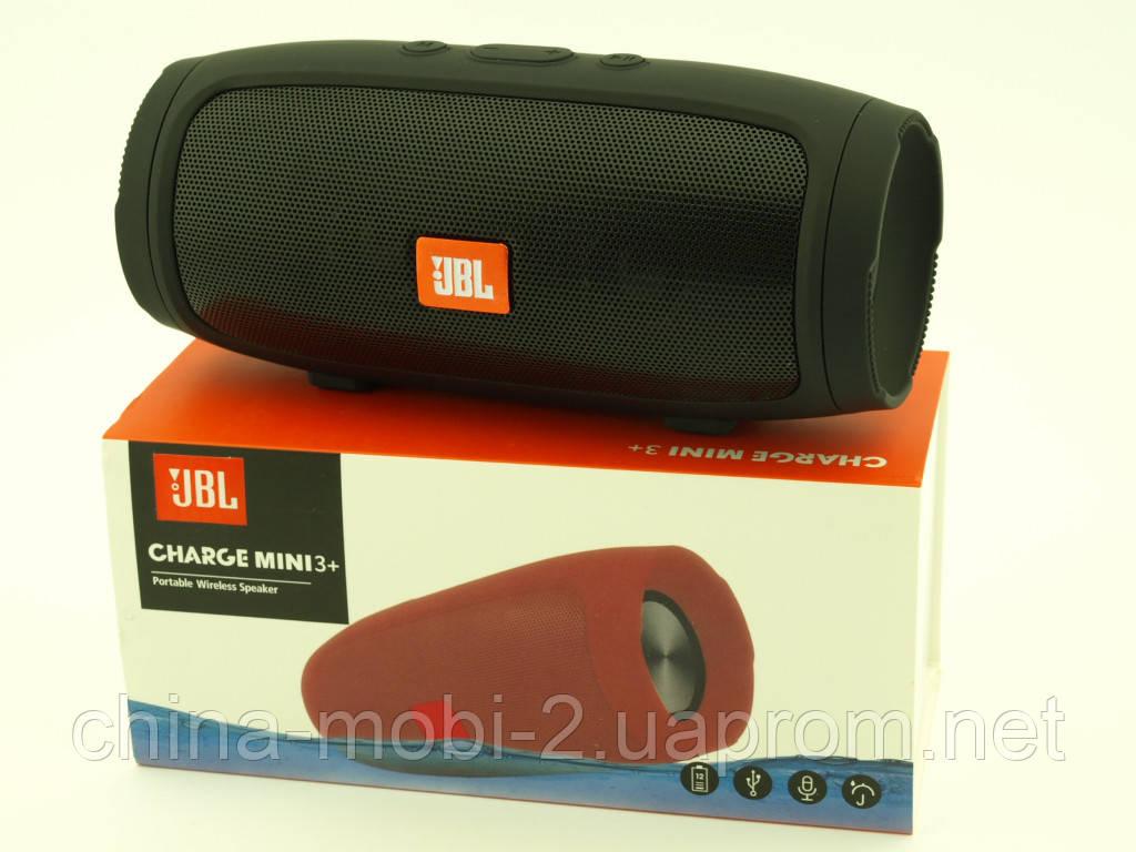 JBL Charge 3+ mini E4 6W, портативная колонка с Bluetooth FM MP3, black