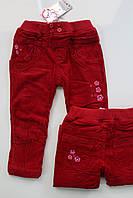 Теплые вельветовые брюки на флисе 1-  год