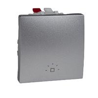"""Кнопка """"Свет"""" 1-кл. 2-м. Schneider Unica Алюминий (MGU3.206.30L)"""