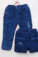 Теплые вельветовые брюки на флисе 1 год
