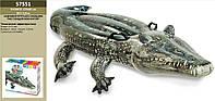"""Надувной плотик """"Аллигатор"""" 57551 винил,с ручками(3+ лет),рем комплект,в кор.170*86см"""