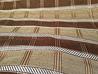 Коса коричневая обивочная ткань для мебели