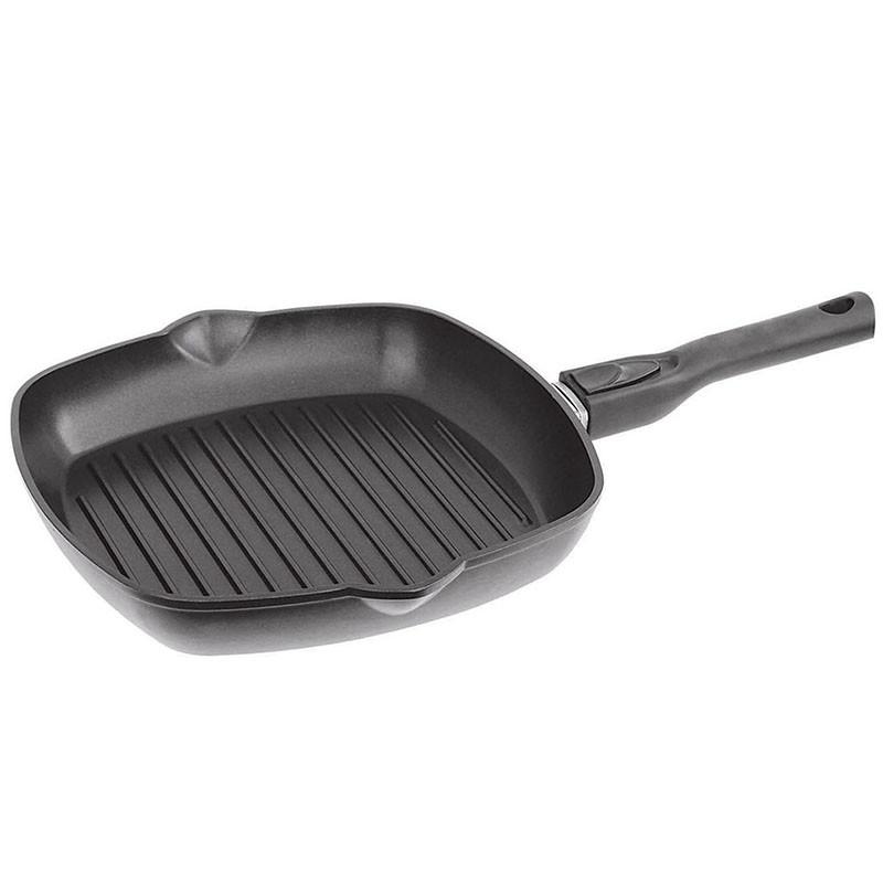 Сковорода-гриль с антипригарным покрытием и съемной ручкой 28см Биол
