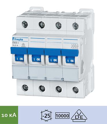 Автоматический выключатель Doepke DLS 6i B10-4 (тип B, 4пол., 10 А, 10 кА), dp09916171