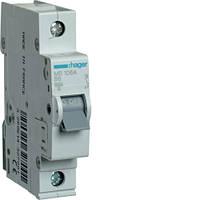 Автоматичний вимикач 1P 6kA B-6A 1M, HAGER, код MB106A