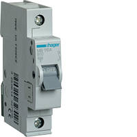 Автоматичний вимикач 1P, 6kA, B-10A, 1M, HAGER, код MB110A