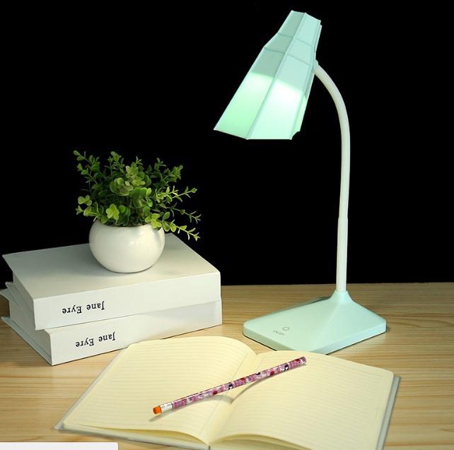Лампа настольная аккумуляторная LED голубая