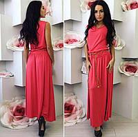 Макси платье, разные цвета, р С-ХХЛ, фото 1