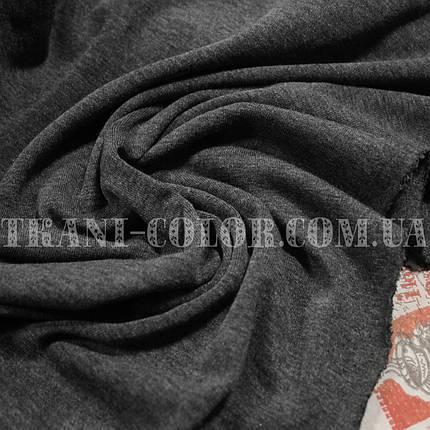 Трикотаж вискоза плотная темно-серая, фото 2