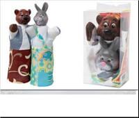 """Набір ляльок-рукавиць """"ВЕДМІДЬ І ЗАЄЦЬ"""" (2 персонажі) В075/077 (шт.)"""