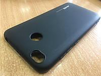 Оригинальный черный матовый силиконовый чехол для Xiaomi Redmi 4Х
