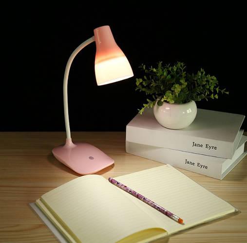 Лампа настольная светодиодная LED розовая