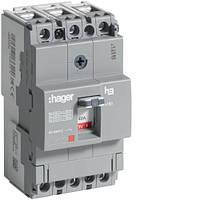 Автоматичний вимикач x160, In=40А, 3п, 18kA, Тфікс./Мфікс.  код HDA040L