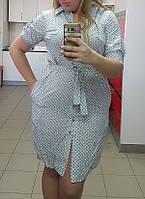 Платье-рубашка женское батальное