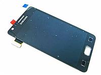 Оригинальный дисплей (модуль) + тачскрин (сенсор) для Samsung Galaxy S2 i9100 (черный цвет, Super AMOLED), фото 1
