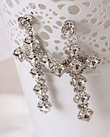 Серьги кресты модная бижутерия сережки с крестами