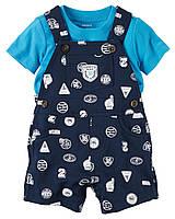 Комплект одежды с комбинезоном для мальчика на лето Carters