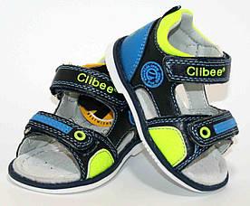 Дитячі шкіряні босоніжки для хлопчика Clibee Польща розміри 18-23