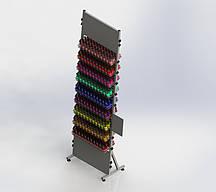 Стойка торговая металлическая  под лаки (9 полок)