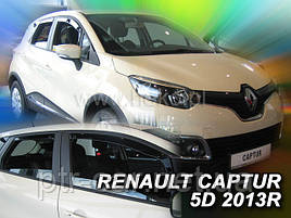 Дефлектори вікон (вітровики) Renault CAPTUR 2013R-> 5D 4шт (Heko)