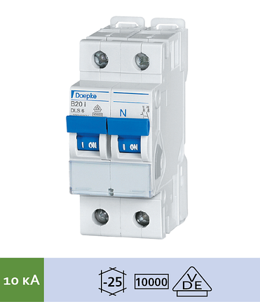 Автоматический выключатель Doepke DLS 6i B16-1+N (тип B, 1+Nпол., 16 А, 10 кА), dp09916053
