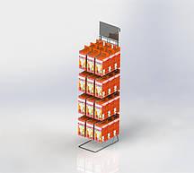 Дисплей-стойка настольная торговая (12 кронштейнов)
