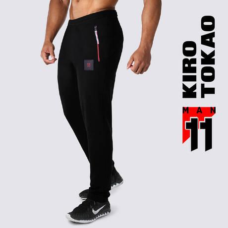 Спортивные штаны зимние Kiro Tokao 10137 черный-красный