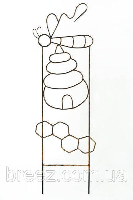 Кованая опора для вьющихся растений Пчелка, высота 1.3 м