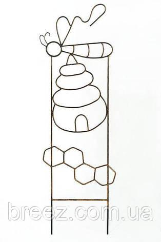 Кованая опора для вьющихся растений Пчелка, высота 1.3 м, фото 2