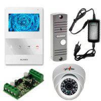 Slinex SQ-04M + ML-16HR - комплект видеодомофона с дополнительной камерой и адаптером для подъездного домофона