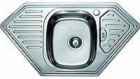 Мойка для кухни угловая врезная декор 95*50