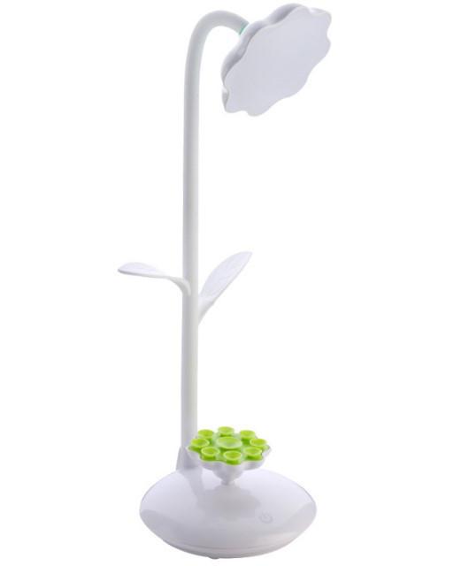 Лампа настільна LED з підставкою для телефону біла
